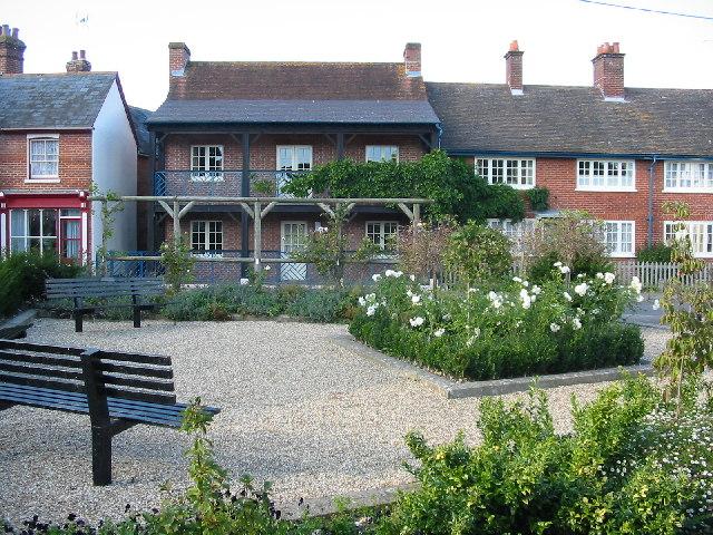 Garden opposite the Cranborne estates office in the centre of Cranborne