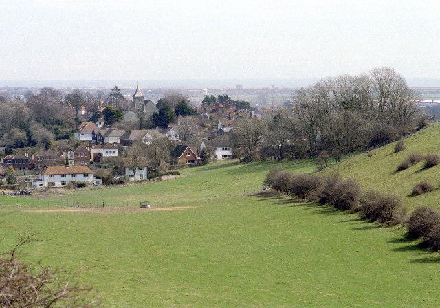 Chalk Farm and Willingdon church