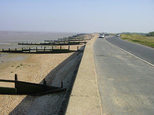 Shellness Road near Leysdown-on-Sea