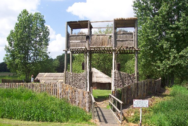 Entrance to the reconstruction of an Iceni village