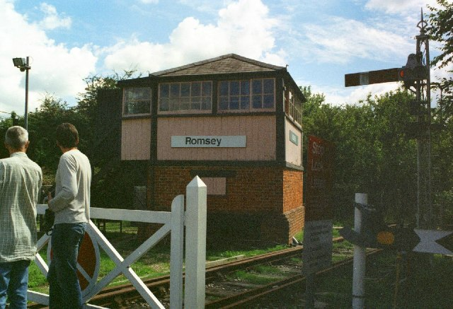 Romsey Signal Box in its new location