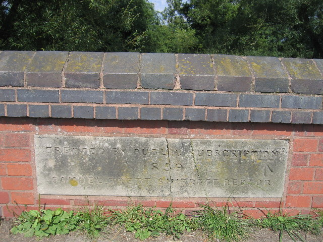 Dedication Stone on Barston Bridge