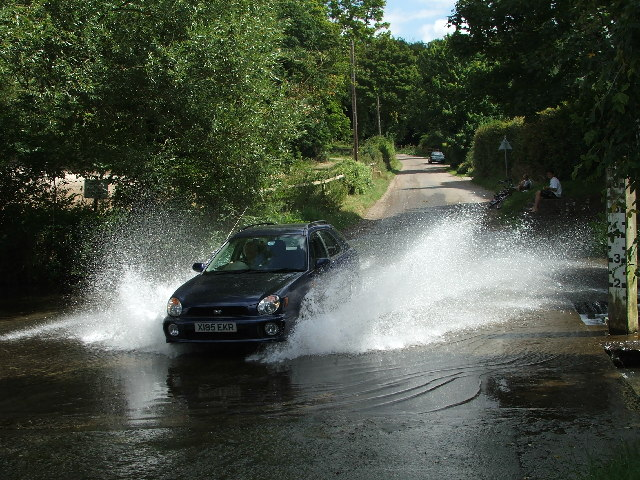 Car going through Barwick Ford