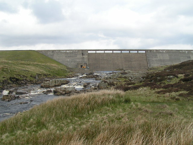 Cow Green Dam and River Tees