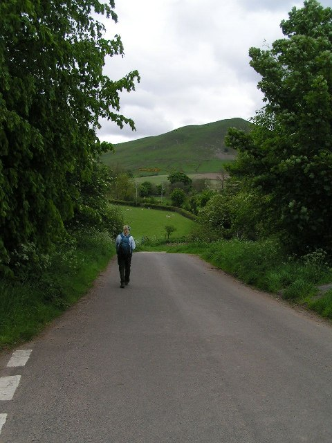 Leaving Dufton on the Pennine Way