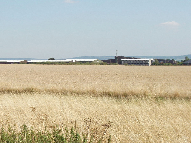 Haddenham Industrial Estate across the former airfield