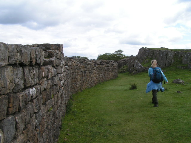 Hadrian's Wall above Walltown Quarry
