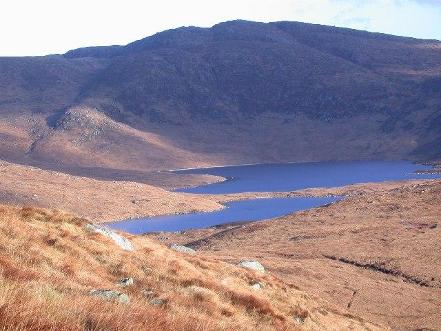Loch Neldricken, from Rig of Loch Enoch