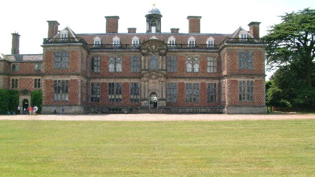 North face and entrance to Sudbury Hall, Derbyshire