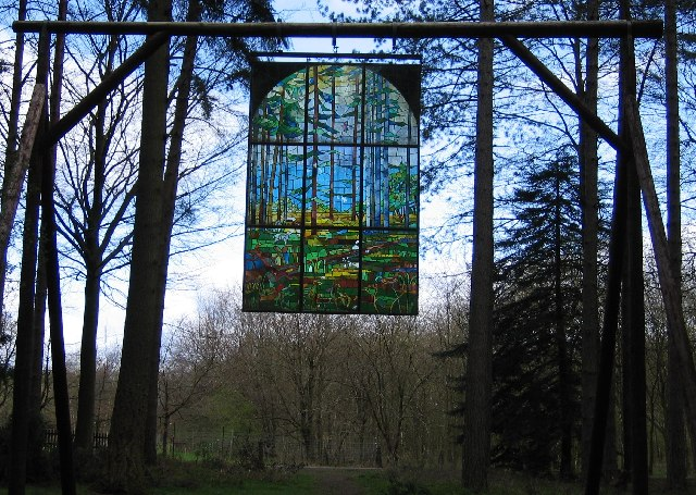 Stained Glass Panel, Sculpture Trail, Forest of Dean