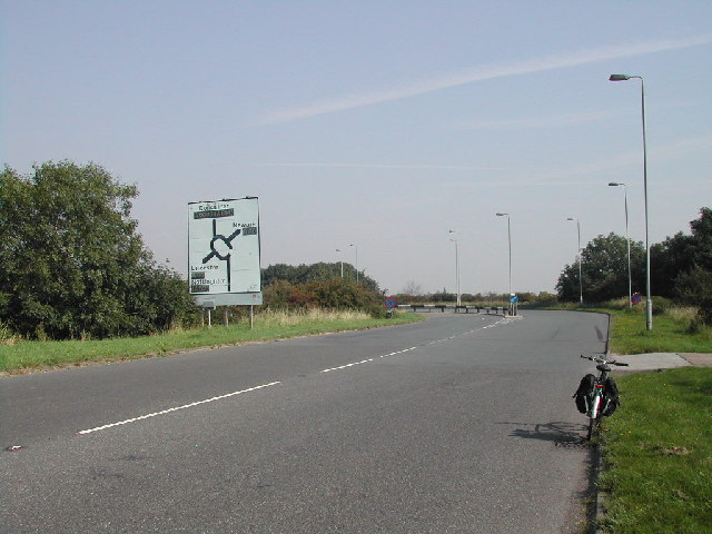 Road sign and Island