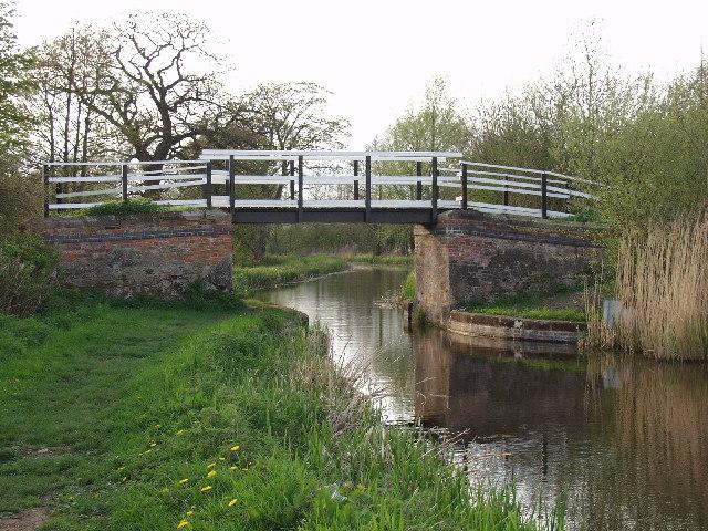 Montgomery Canal. Bridge near Maesbury Marsh