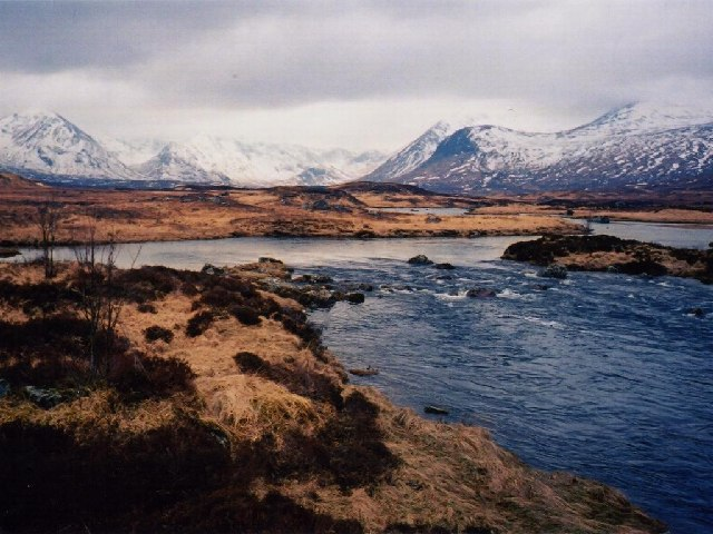 Black Mount from Rannoch Moor, Winter