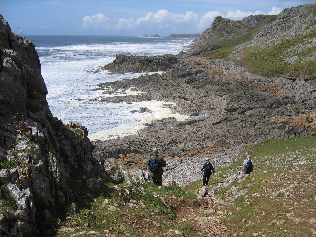 South Gower cliffs Nr Overton
