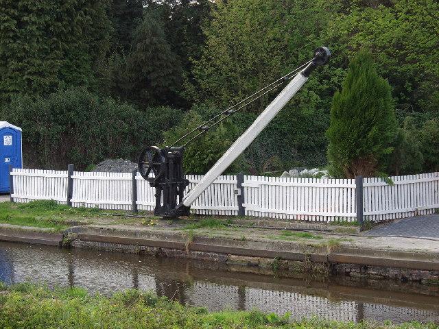Crane at Maesbury Marsh Wharf,  Montgomery Canal