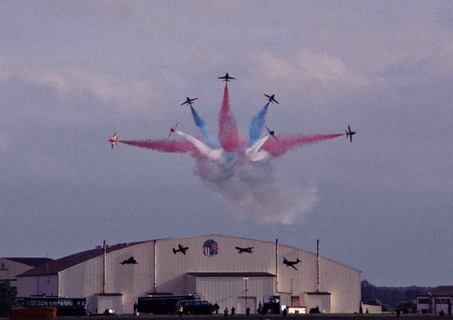Red Arrows at Mildenhall Air Base