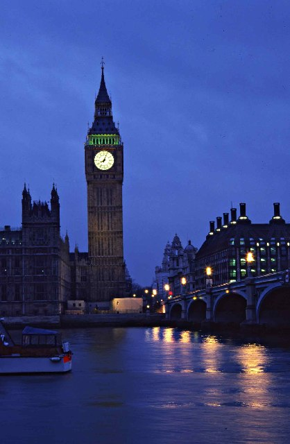 Big Ben & Westminster Bridge at Dusk