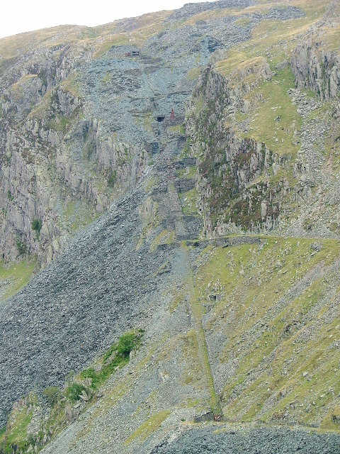 Incline to the Yew Crag Workings. Honister Quarries