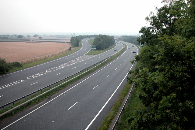 A 55 Trunk route at Broughton