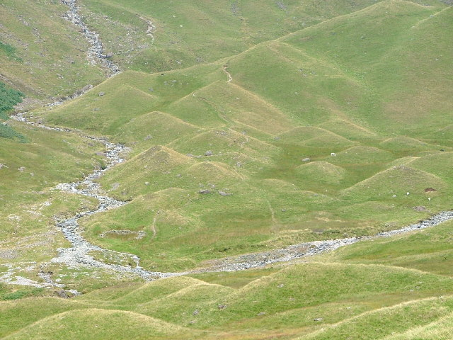 Close up of the Moraines at the Foot of The Tongue