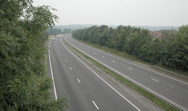 A55 trunk road through Broughton