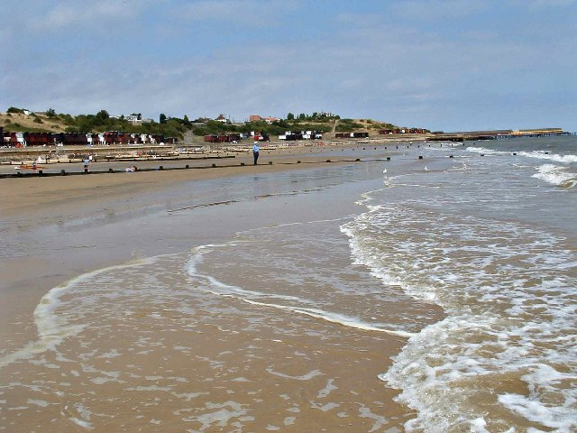 Frinton Beach looking towards Walton-on-the-Naze