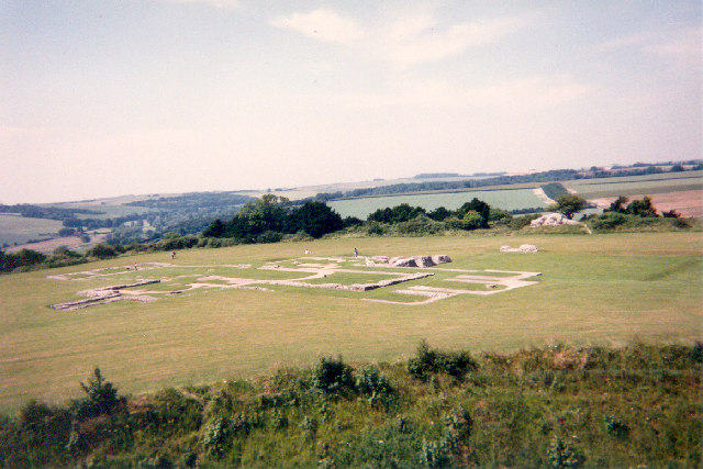 Ruins of former Cathedral, Old Sarum, Wiltshire