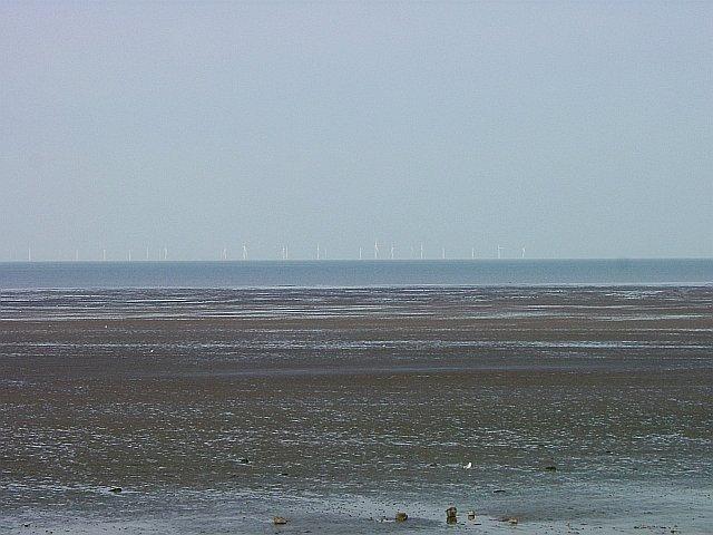 Leysdown Sea Front and Kentish Flats Wind Farm