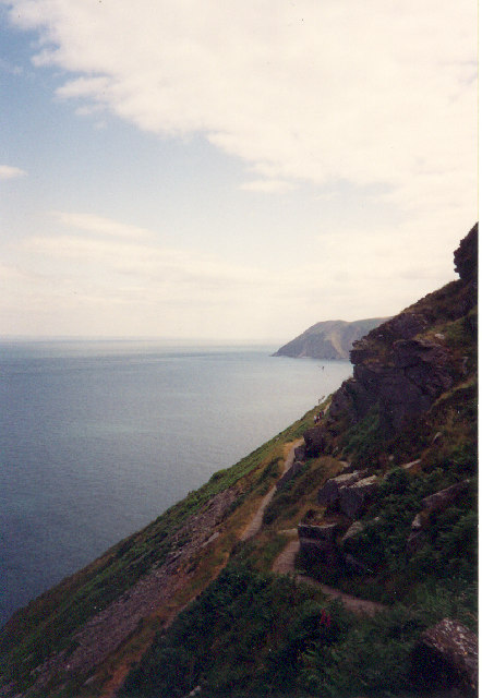 Cliffside path into Lynton, North Devon