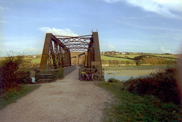 The Iron Bridge at Little Petherick Creek before restoration