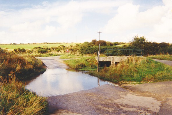 Ford and bridge on Bodmin Moor