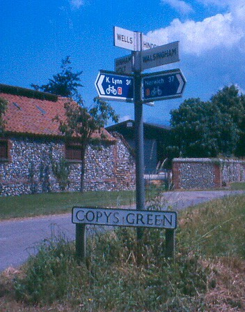 Signpost at Copy's Green, Wighton, near Wells