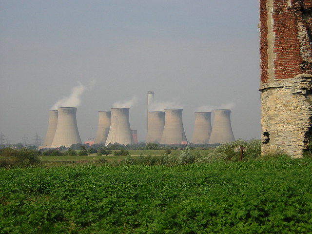 Cottam Power Station from Torksey Castle