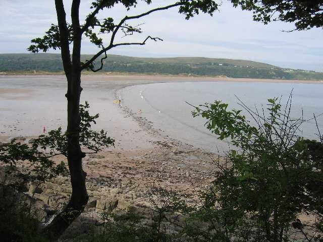 Oxwich Bay, from near St Illtyd's church