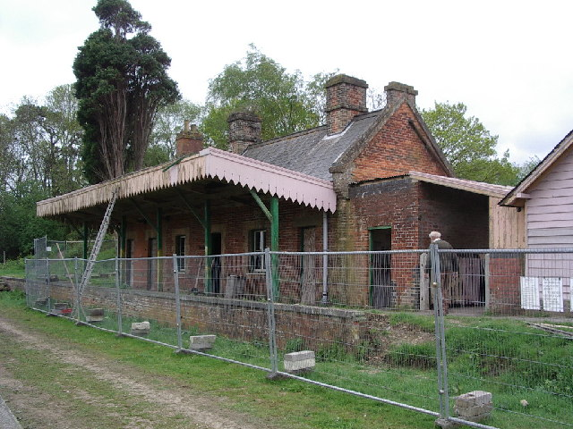 Shillingstone Railway Station being restored.