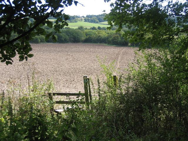 Ploughed field near Gt Missenden