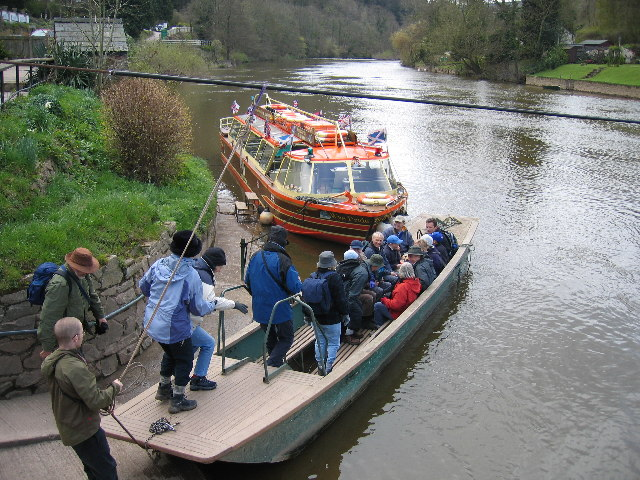 The hand ferry on the Wye at Symonds Yat
