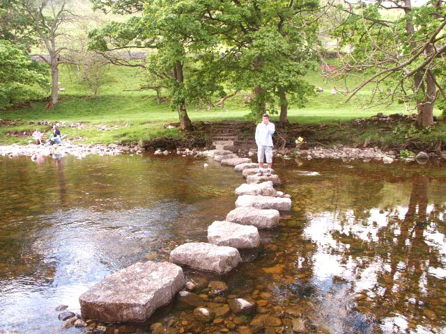 Stepping Stones across the Wharfe