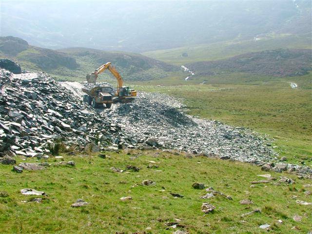 Reworking of the Slate Spoil Tips at Dubs Quarry
