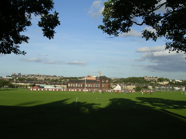 Playing fields at Jordanhill College