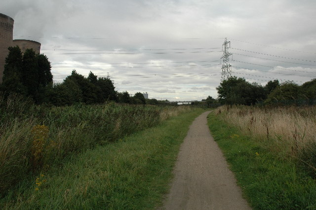 Trans Pennine Trail between Warrington and Widnes