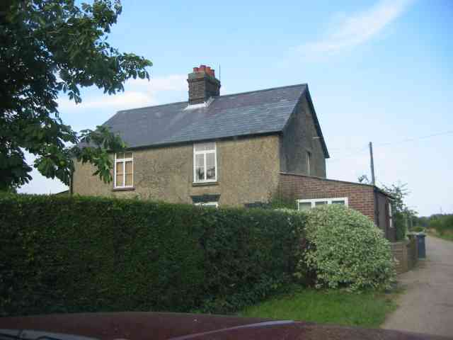 Cottage on access  road to Burleigh Farm