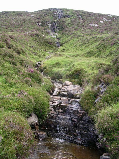 Waterfall, West Ridge, Beinn Enaiglar
