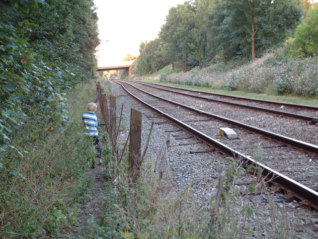 down by the railway