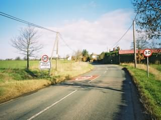 Great Bradley,  southern approach to the village