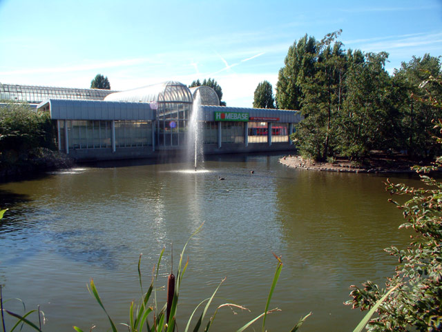 Homebase with pond, Bromley Road SE6