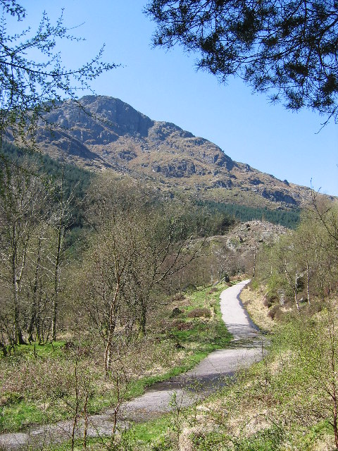 Old Military Road leading to Rest and be Thankful, Argyll