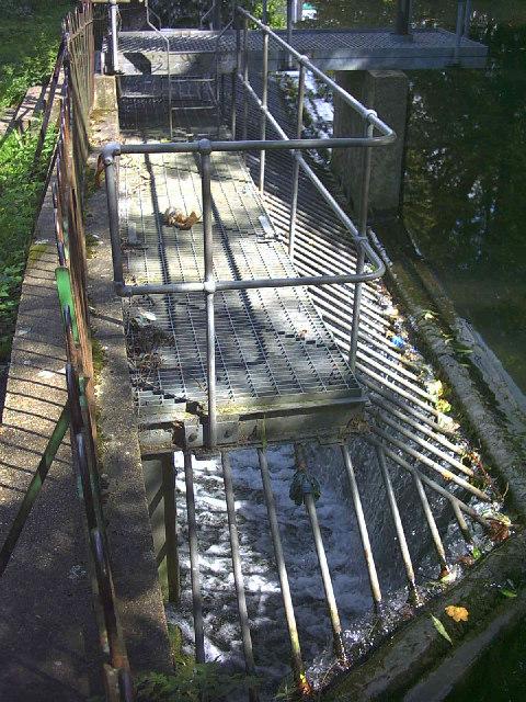 Weir on River Wandle, near Mill Close, Hackbridge.