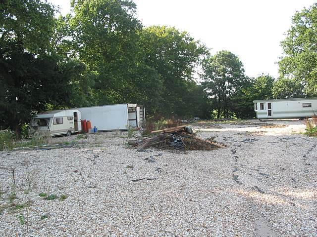 Derelict caravans and lorry bodies at Fairview
