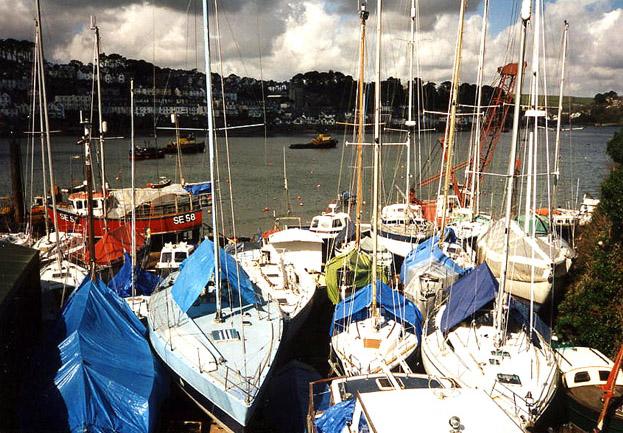 Lanteglos: boatyard at Polruan